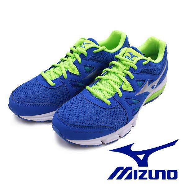 ※現貨供應※【MIZUNO 限時好運價$1288】MIZUNO SYNCHRO MD 休閒款男慢跑鞋 藍 運動鞋 J1GE161803