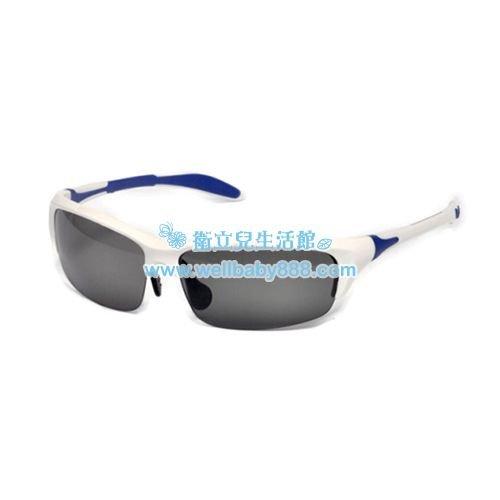 ★衛立兒生活館★美國RKS雙色葉片型太陽眼鏡-藍白(10歲以上)