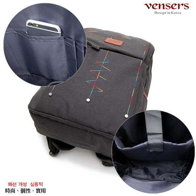 【vensers】簡約丹寧牛仔後背包(R00066301黑色) 5