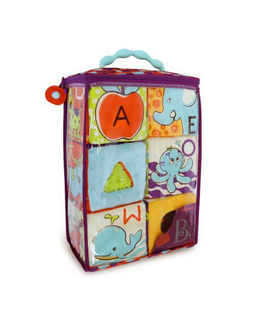 【美國B.Toys感統玩具】【美國B.Toys感統玩具】ABC方塊派對布積木(同學會)