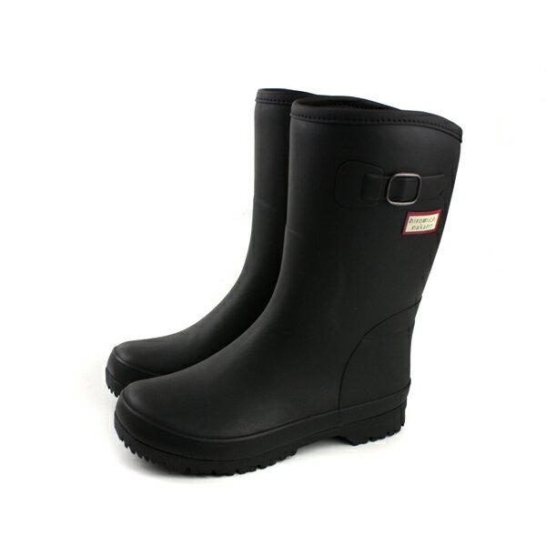 HiromichiNakano雨鞋雨靴中筒霧面黑色女鞋HIWL147R6no109