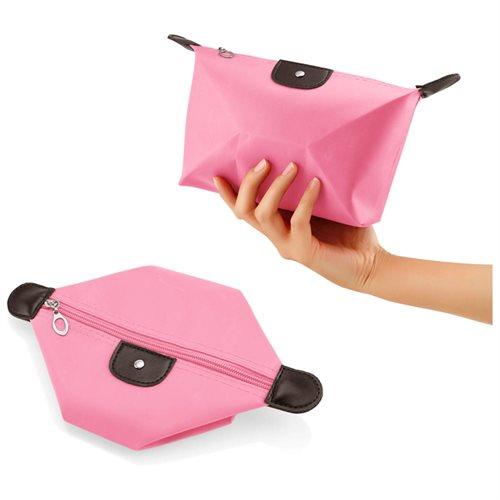 Travel Cosmetic Bag Storage Pouch Purse Makeup Case Multifunction Toiletry Zipper Wash Organizer Handbag - Pink