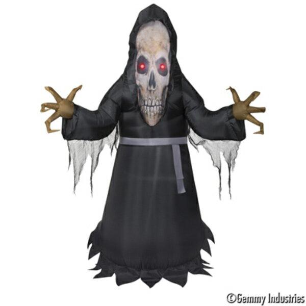 X射線【W007872】充氣5尺模擬臉骨頭人,萬聖節/萬聖佈置/充氣擺飾好收納/萬聖充氣/骨頭人/會場佈置/打卡神器/舞會道具/拱門
