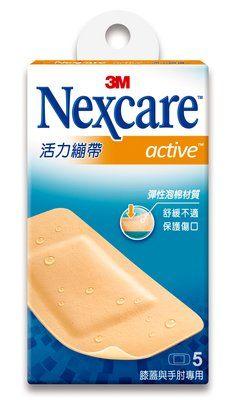 【3M】官方現貨  Nexcare 活力繃帶 膝蓋與手肘專用 OK繃 , 5片包
