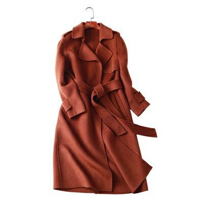 【米蘭秀】【奇珍館】:毛呢外套羊毛大衣-優雅純色百搭長版女外套3色73op21【獨家進口】【米蘭精品】