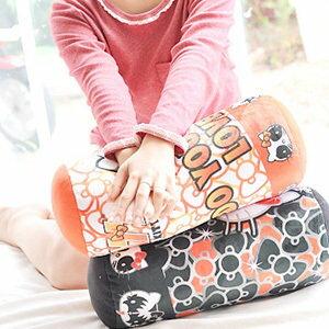 美麗大街【1031003】HELLOKITTY搖滾KISS系列造型12吋圓筒抱枕