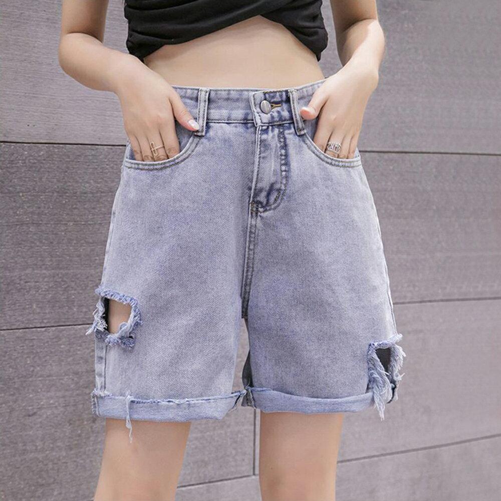 高腰牛仔五分短褲(圖片色S~XL)*ORead*