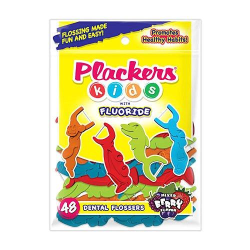 普雷克 兒童塗氟牙線棒48支-莓果口味【德芳保健藥妝】