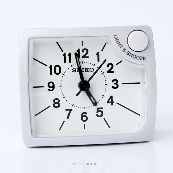 鬧鐘 SEIKO珠光質感方形鬧鐘 柒彩年代【NV60】原廠公司貨 - 限時優惠好康折扣