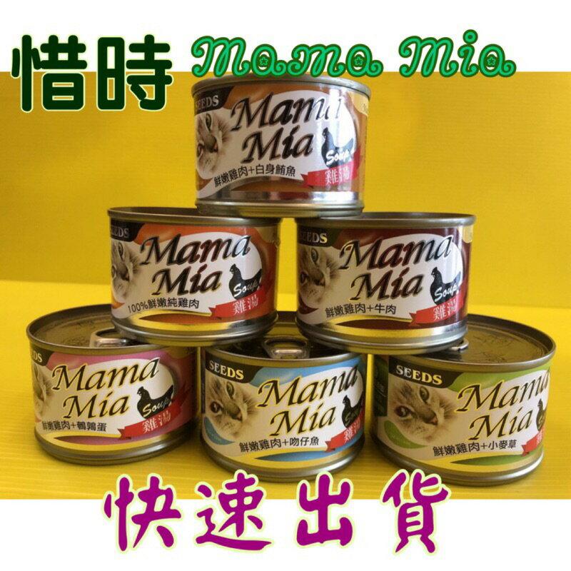 ✪四寶的店n✪附發票~SEEDS 惜時 大MAMA MIA 機能愛貓 雞湯餐罐 170g