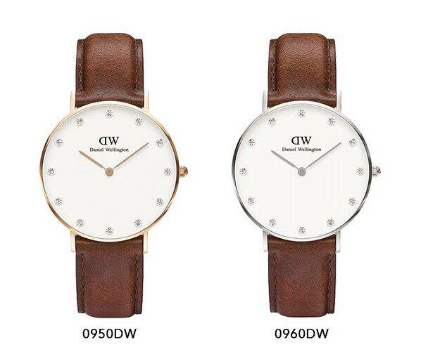 瑞典正品代購 Daniel Wellington 0950DW  玫瑰金鑽  真皮 錶帶 男女錶 手錶腕錶 34MM 2