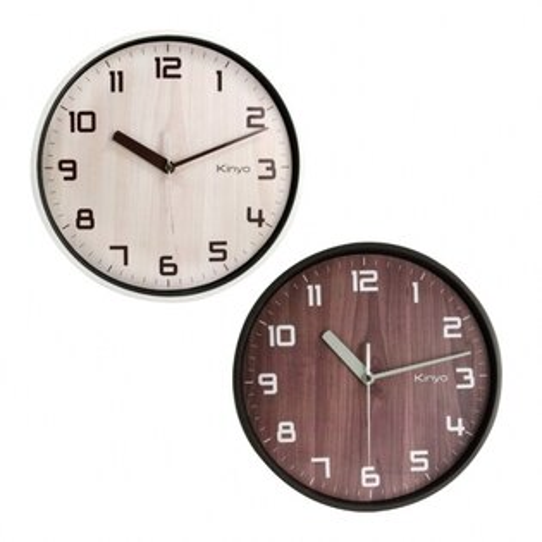 CL-156北歐風木紋掛鐘時鐘鬧鐘掛鐘壁鐘LCD電子鐘【迪特軍】