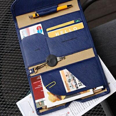★護照包純色證件夾-軟皮超薄多隔層三折男女皮夾7色73pp270【獨家進口】【米蘭精品】