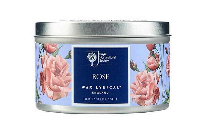 英國Wax Lyrical 金屬蠟燭小禮盒-玫瑰(可燃25小時)