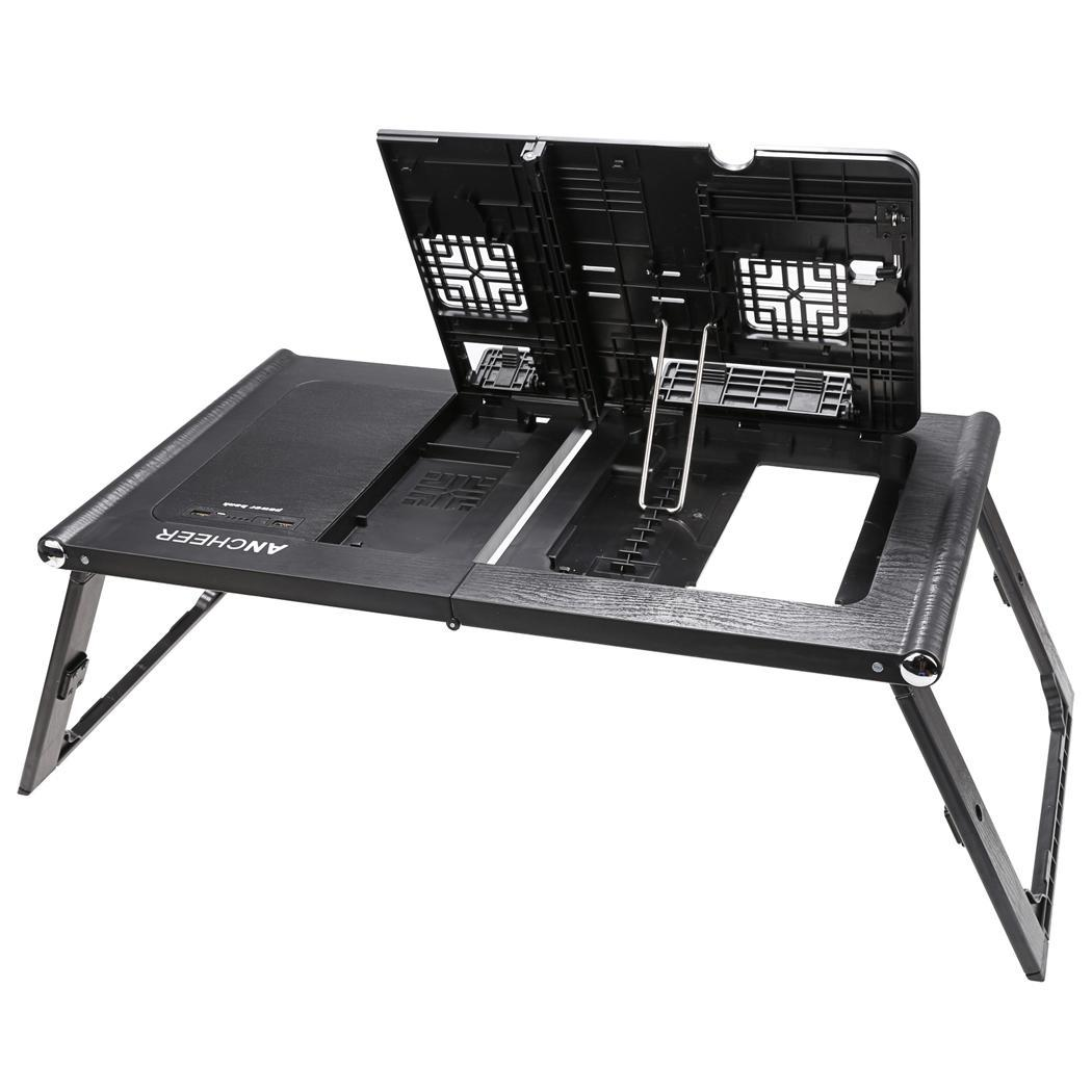 Universal 13inch Laptop Pad Folding Table with Power Bank 10000mAh 5