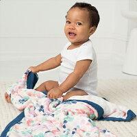 彌月寢具用品推薦到美國 Aden + Anais 竹纖維被毯/禮盒/彌月 彩蝶花雨就在麗兒采家推薦彌月寢具用品