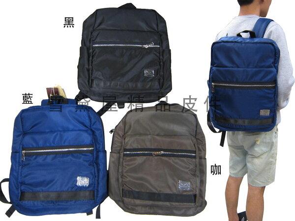 ~雪黛屋~MARTIN後背包中容量可A4資料夾14吋電腦防水尼龍布材質外出上學上班休閒M2058