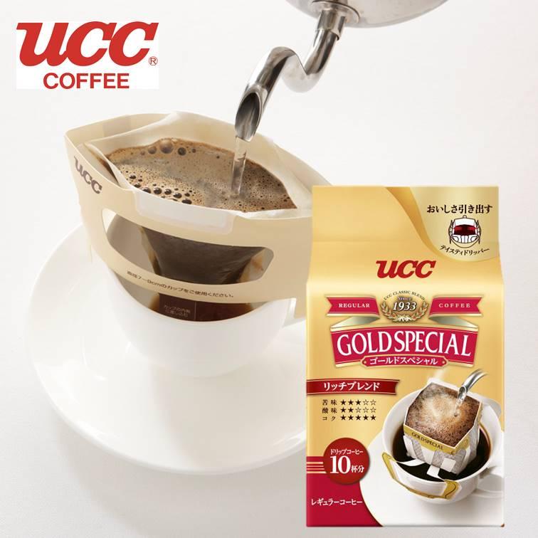 【UCC】Gold Special 濾式濾掛咖啡-濃郁 10杯分 80g 黃金滴漏咖啡 咖啡粉 黑咖啡 日本原裝進口
