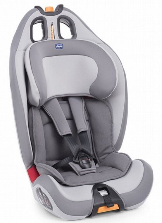 【淘氣寶寶】Chicco Gro-up123 成長型兒童汽車安全座椅 9~36kg 品味灰【公司貨】