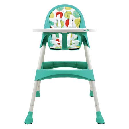 【悅兒園婦幼生活?】英國 unilove 兒童高腳餐椅 Hoja-Pea 藍綠