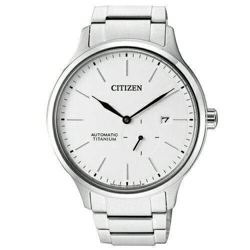 方采鐘錶:CITIZEN星辰GENTS紳仕氣度機械男錶鈦金屬NJ0090-81A