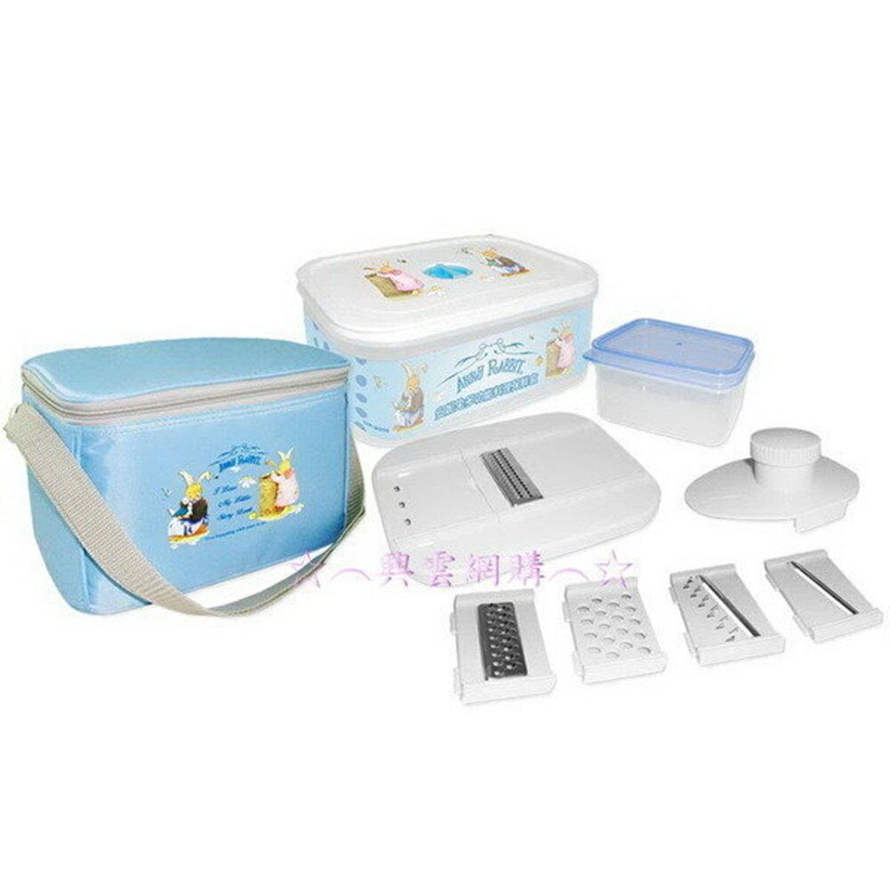☆︵興雲網購︵☆*【0100】安妮兔保冰袋+多功能料理保鮮盒2件套(盒裝) 烤肉 郊遊野餐