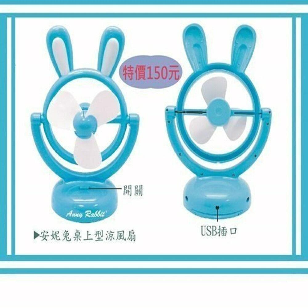 ╭*興雲網購*╯【0213】安妮兔桌上型涼風扇 電風扇/USB/電扇/桌上辦公室