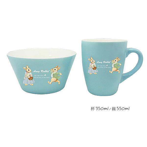 ☆︵興雲網購︵☆ 【0235】安妮兔色釉杯碗組 餐具組 碗組 飯碗 陶瓷碗 居家生活用品