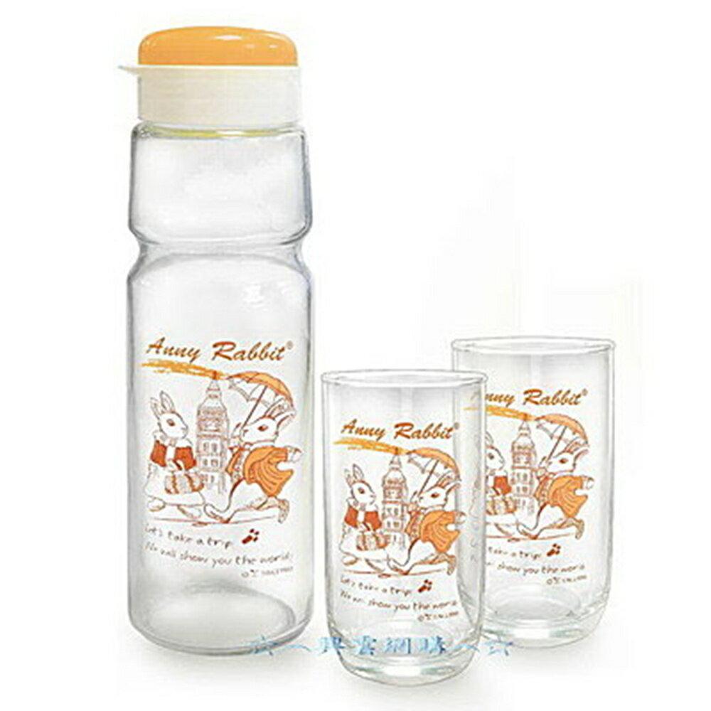 ~︵興雲網購︵~ ~1730~ 安妮兔冷水壺1L 2美樂杯~旅遊 果汁壺 飲料壺   中~