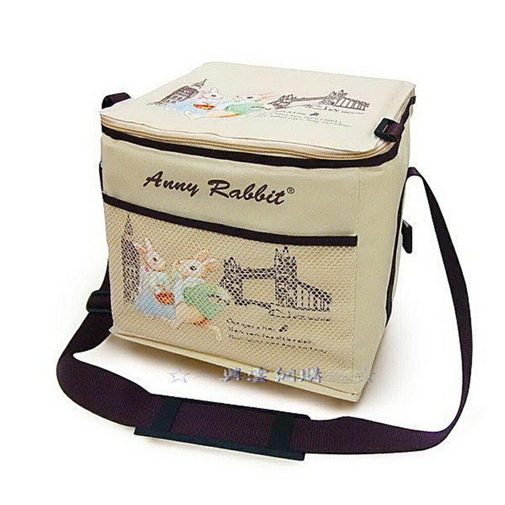 ☆︵興雲網購︵☆【2511】安妮兔保溫保冷袋附網 大容量環保購物袋 袋子 手提袋 收納袋
