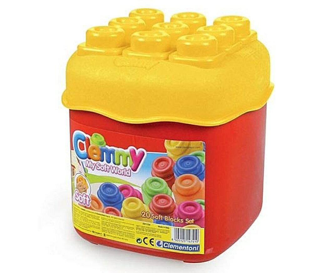 ~︵興雲網購︵~~47410~Clemmy~20pcs正色桶裝 積木.軟積木. 義大利 軟