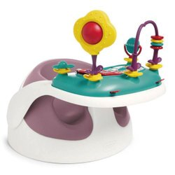 英國 mamas & papas 二合一育成椅v2/餐椅/幫寶椅/攜帶式-乾燥玫瑰(附玩樂盤)
