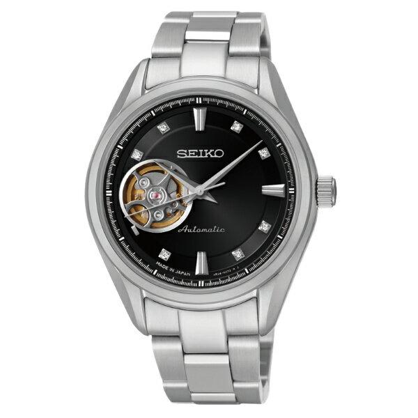 Seiko Presage 4R38-00R0D(SSA869J1)擺輪透視經典機械腕錶/黑面34mm