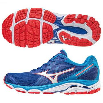 J1GC184401(藍X白)暢銷支撐鞋款WAVEINSPIRE14男慢跑鞋Q【美津濃MIZUNO】
