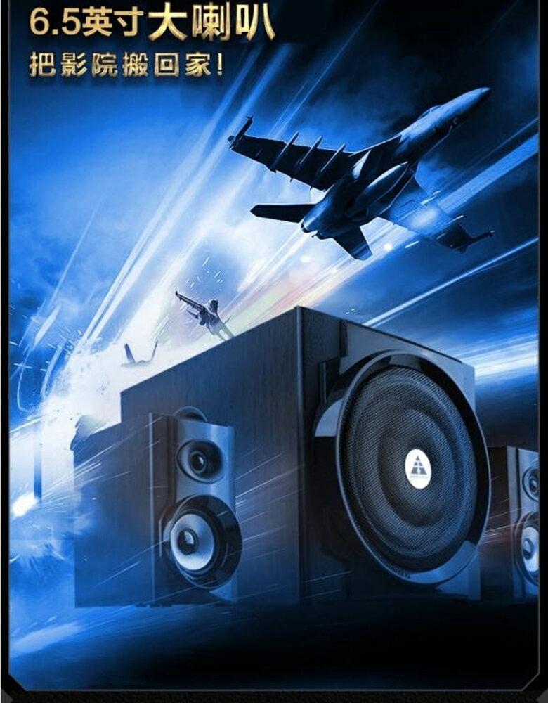 藍芽音箱家用音響有源2.1電腦電視台式木質組合低音炮wy 雙12購物節