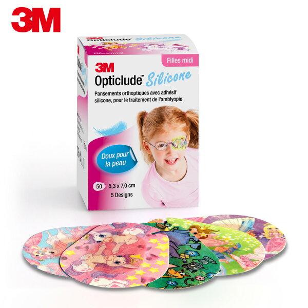 【3M】矽膠護眼貼設計款(女孩中尺寸)