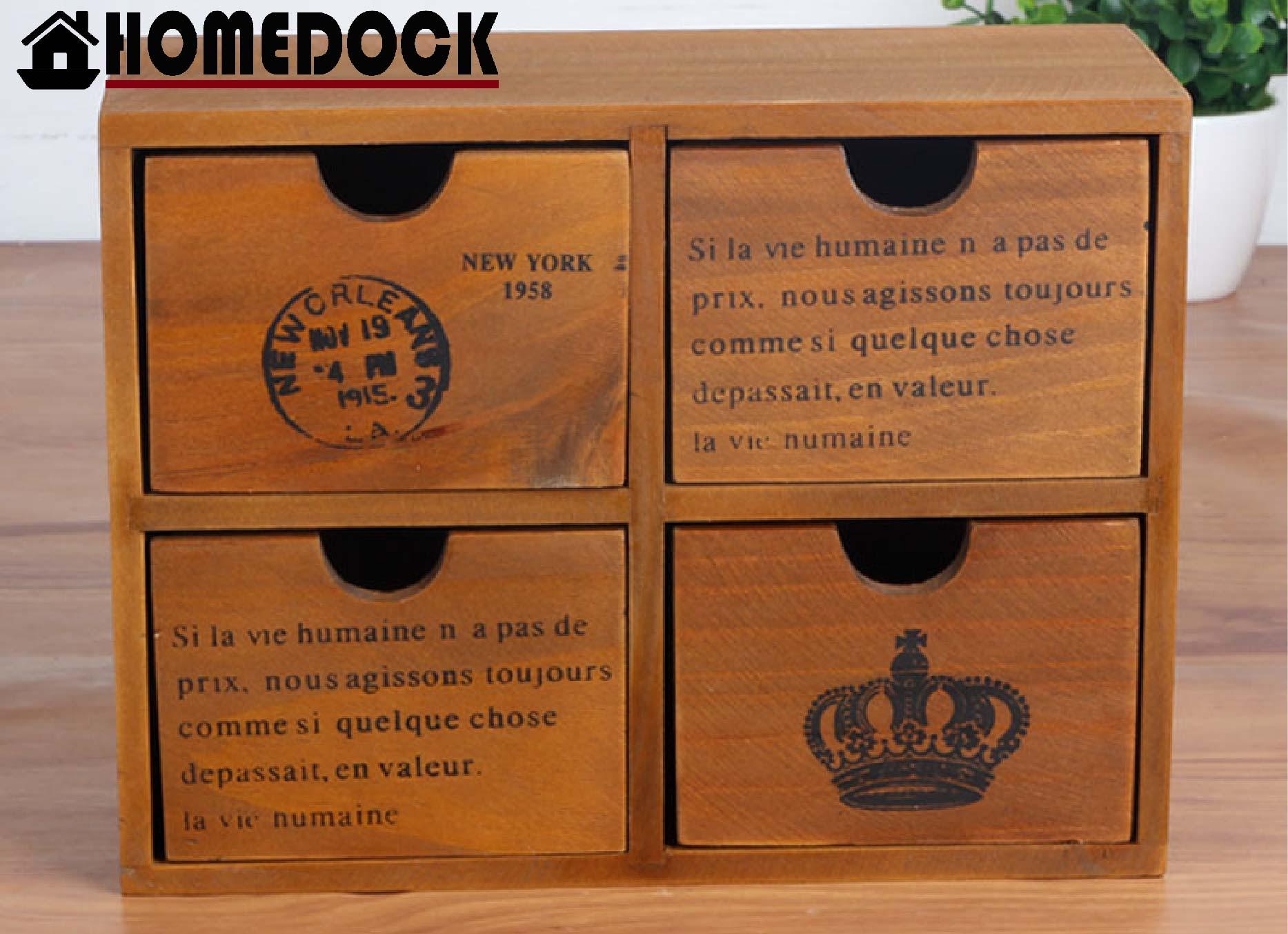 原木質感四格抽屜收納櫃 四層/四格/木櫃/置物櫃/原木製/層格櫃/抽屜/Zakka/木盒
