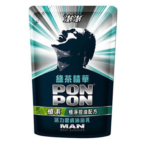 澎澎MAN沐浴乳補充包-綠茶多酚700g【愛買】