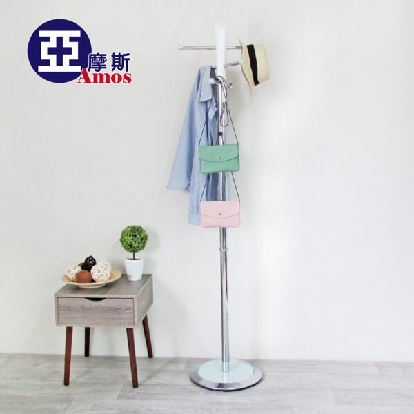 ^( ^) 掛衣架 收納架 衣櫥~CAW006~ 椎木衣帽架 免 穩重型配重塊 鐵製衣桿