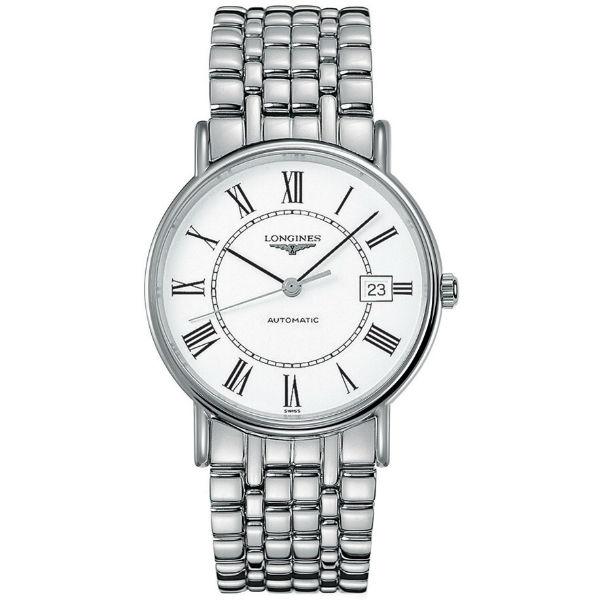 LONGINES 浪琴表 當代系列 L49214116經典羅馬腕錶/白面38.5mm