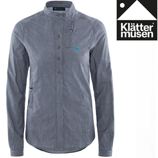 Klattermusen攀山鼠長袖襯衫有機棉+天絲快乾長袖襯衫Lofn男KM20560M風暴霧藍SBM