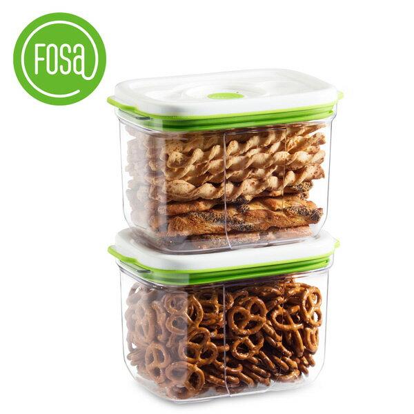 【FOSA|真鮮寶】真空保鮮盒方形2300ml2個入22300(不含主機)【三井3C】