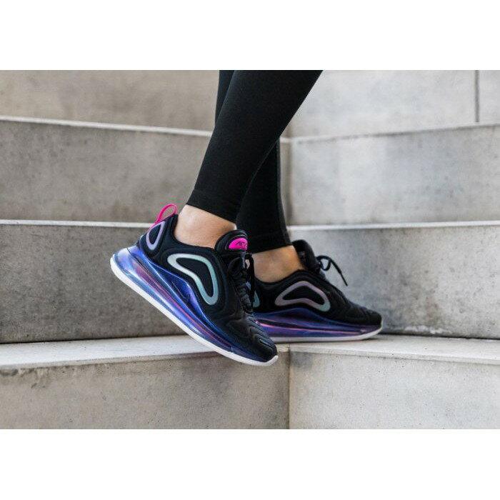 【日本海外代購】NIKE AIR MAX 720 黑紫 黑色 氣墊 銀河 全氣墊 桃紅 休閒 女鞋 CD2047-001