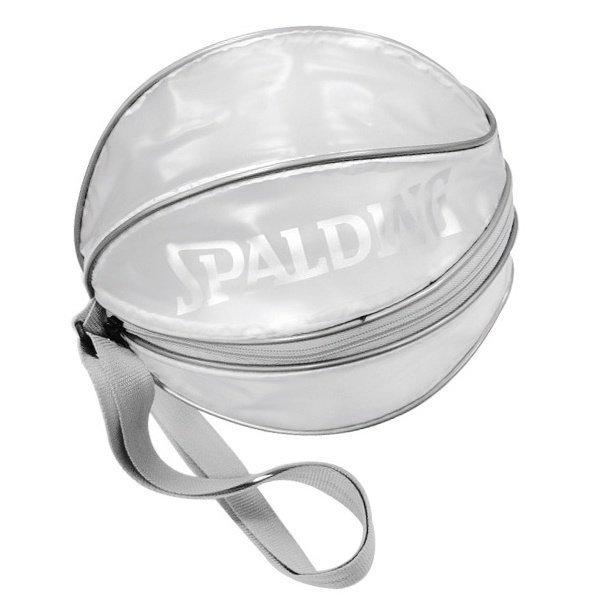 【H.Y SPORT】SPALDING 斯伯丁 單顆裝籃球瓢蟲袋(深藍 / 銀白) 1