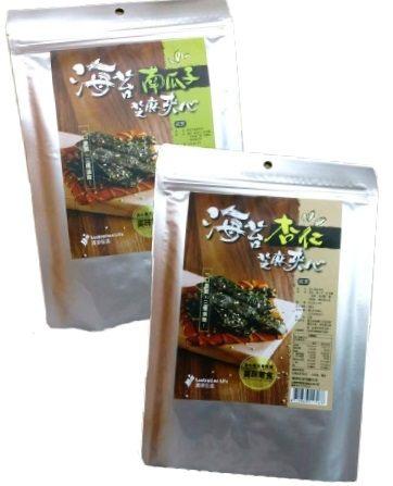 清淨生活 海苔杏仁芝麻夾心/海苔南瓜子芝麻夾心 35g 純素 一口香脆,三種滋味 特價$89