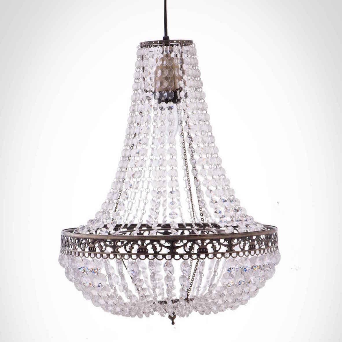 古銅華麗透明壓克力珠吊燈-BNL00050 0
