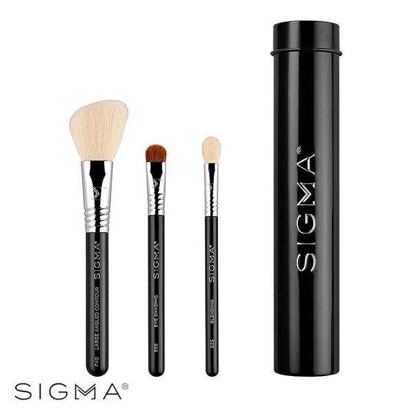 Sigma 基本旅行刷具3件組(含刷具罐)-黑色 Essential Trio Brush Set - WBK SHOP