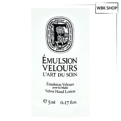 Diptyque 藝術系列-E 絲絨護手乳 5ml Velvet Hand Lotion - WBK SHOP