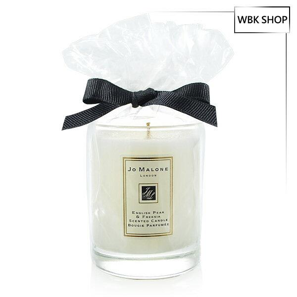 【買就送Amore Pacific體驗包,隨機出貨數不挑款】Jo Malone 旅行香氛工藝蠟燭 英國梨與小蒼蘭 60g - WBK SHOP