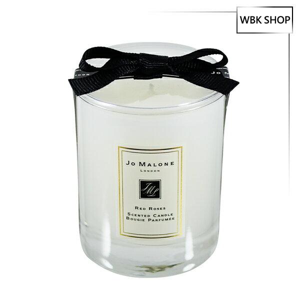 JoMalone旅行香氛工藝蠟燭紅玫瑰60g(含外盒、緞帶)-WBKSHOP